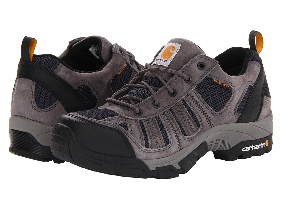 Carhartt Lightweight Low Waterproof Work Hiker Soft Toe (Grey/Navy) Men