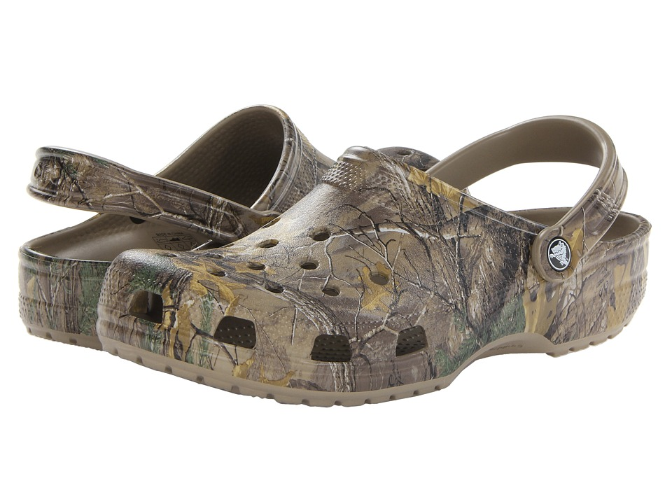 Crocs - Classic Realtree Xtra Clog (Khaki) Mens Shoes