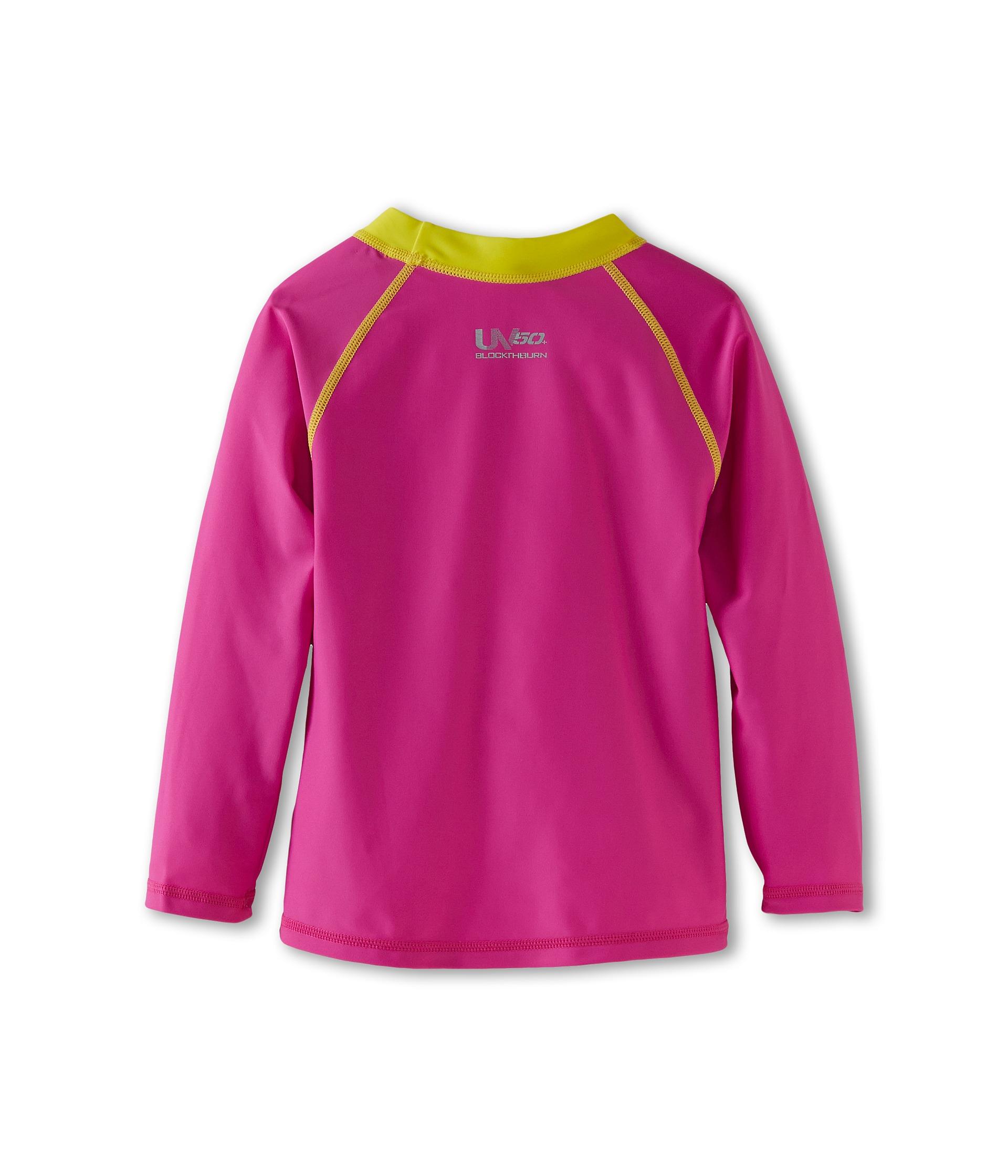 Speedo uv long sleeve sun shirt toddler little kids pink for Uv shirts long sleeve