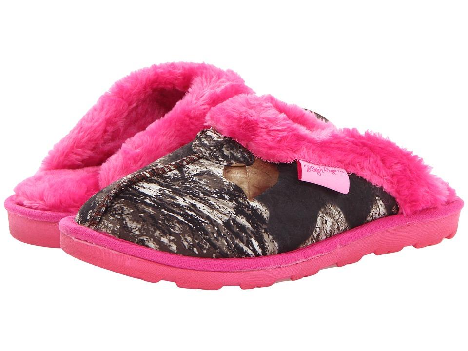 M&F Western Fleece Slide Slippers (Mossy Oak/Hot Pink) Women