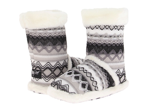 M&F Western Knit Print Bootie Slippers - White
