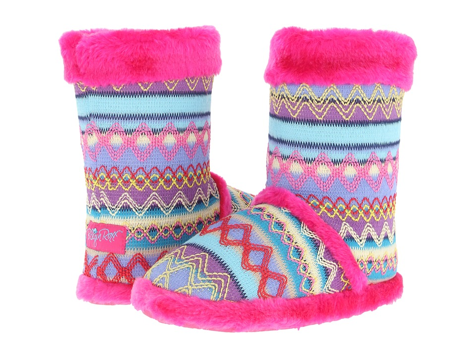 M&F Western Knit Print Bootie Slippers (Hot Pink) Women