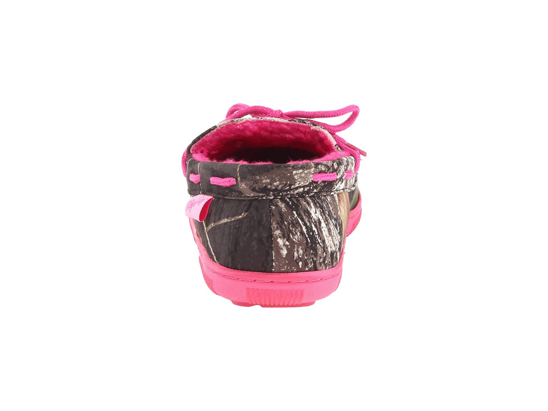 M F Western Mossy Oak Moccasin Slippers Mossy Oak Hot Pink F