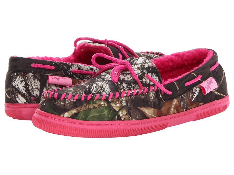 M&F Western Mossy Oak Moccasin Slippers (Mossy Oak/Hot Pink) Women