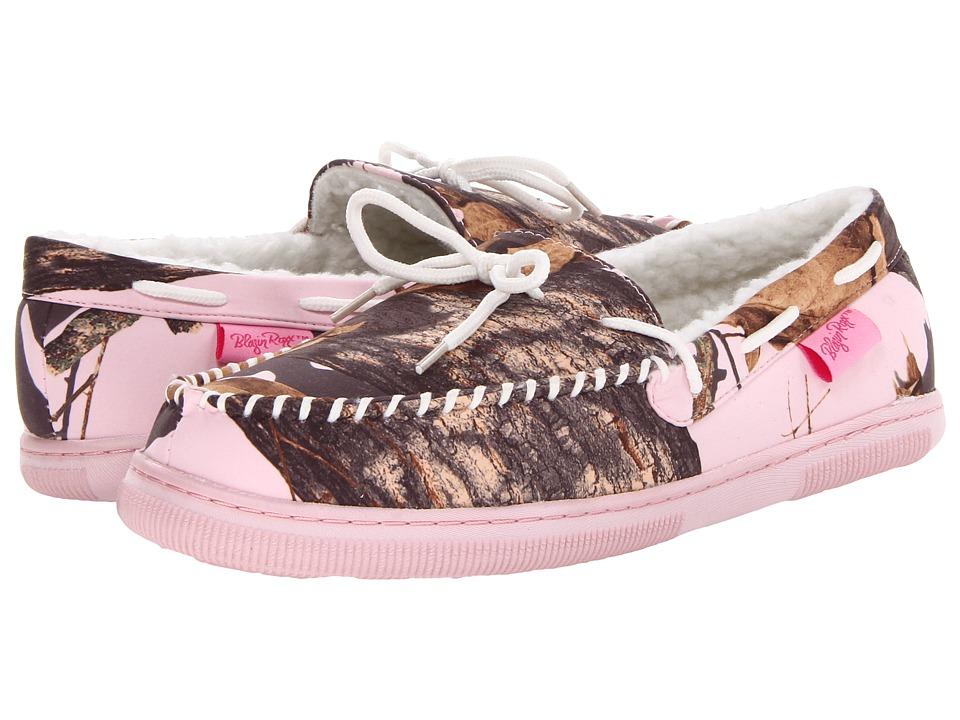 M&F Western Mossy Oak Moccasin Slippers (Pink Mossy Oak/White) Women