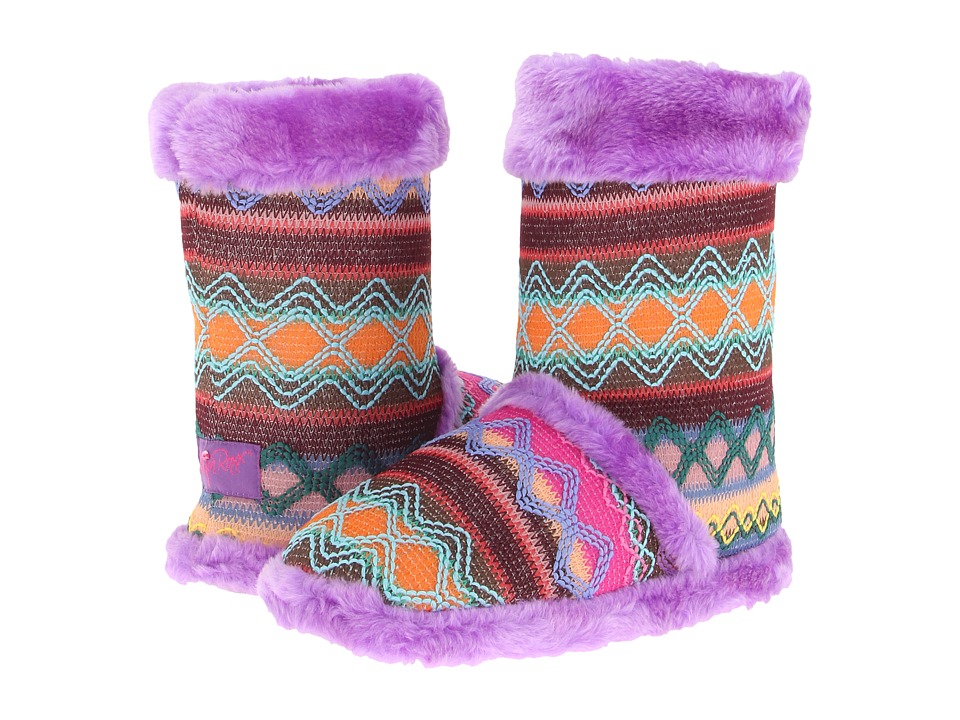 M&F Western - Knit Print Bootie Slippers (Purple) Womens Slippers