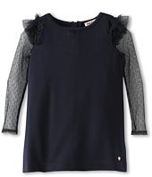 Juicy Couture Kids - Dot Mesh Ponte Dress (Toddler/Little Kids/Big Kids)