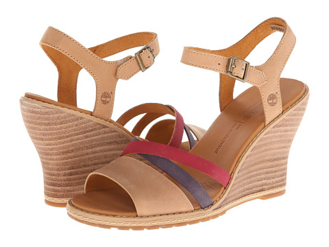 Timberland - Earthkeepers Maeslin Ankle Strap (Tan With Multi) - Footwear, wide width womens sandals