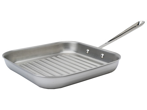 All clad 11 square grill stainless steel shipped free at zappos - All stainless steel grill ...