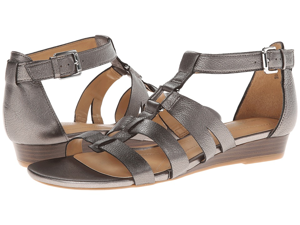 Naturalizer - Jansin (Dark Pewter Metallic) Women's Dress Sandals
