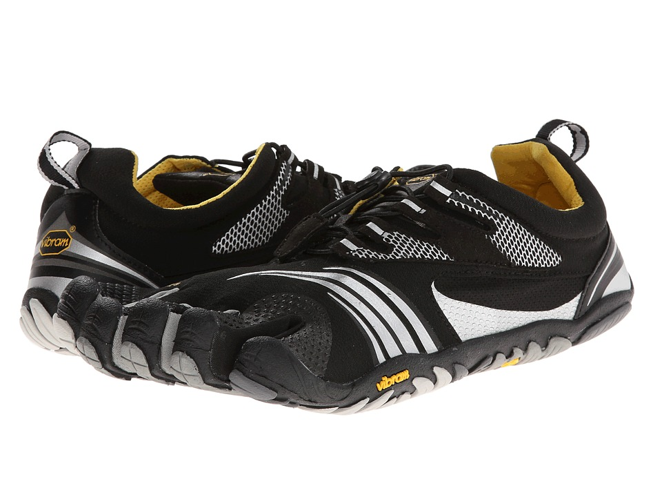 Vibram FiveFingers KMD Sport LS Black/Silver/Grey Mens Shoes