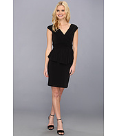 Jessica Simpson - V Neck Peplum Gathered Dress