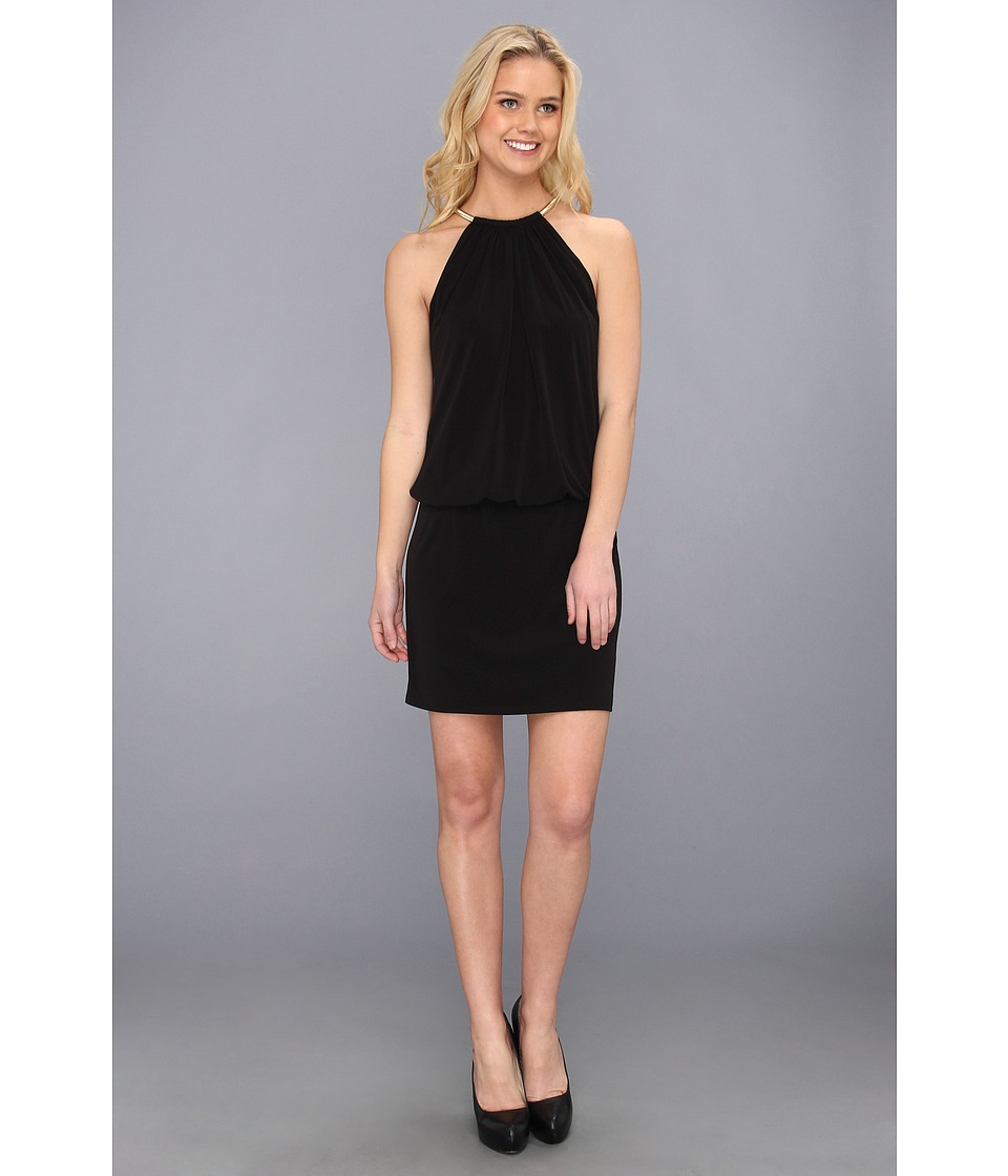 Jessica Simpson ITY Blouson with Necklace Halter Black Womens Dress