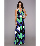 Jessica Simpson - Halter Maxi Dress with Elastic Gathered Front