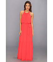 Jessica Simpson - Sleeveless Blouson Maxi Dress with CB Scallop Trim and Skirt Ruffle