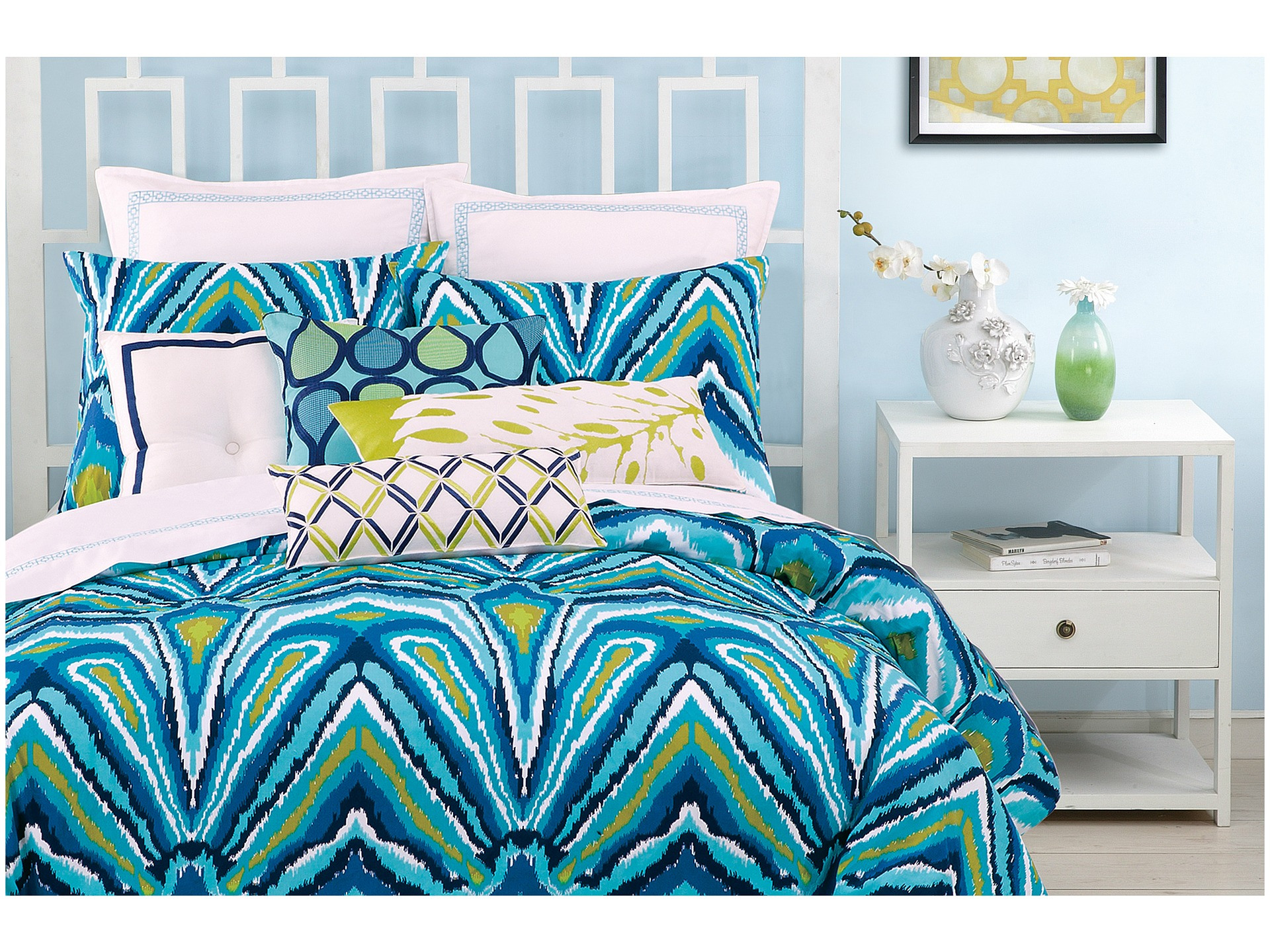 Peacock blue bedding set total fab peacock themed peacock colored comforter and bedding sets - Peacock bedspreads ...