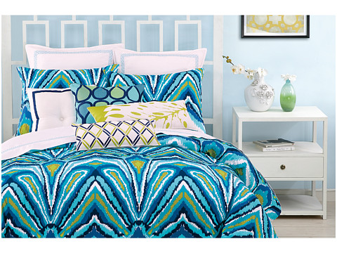 Trina turk blue peacock comforter set king shipped free at zappos