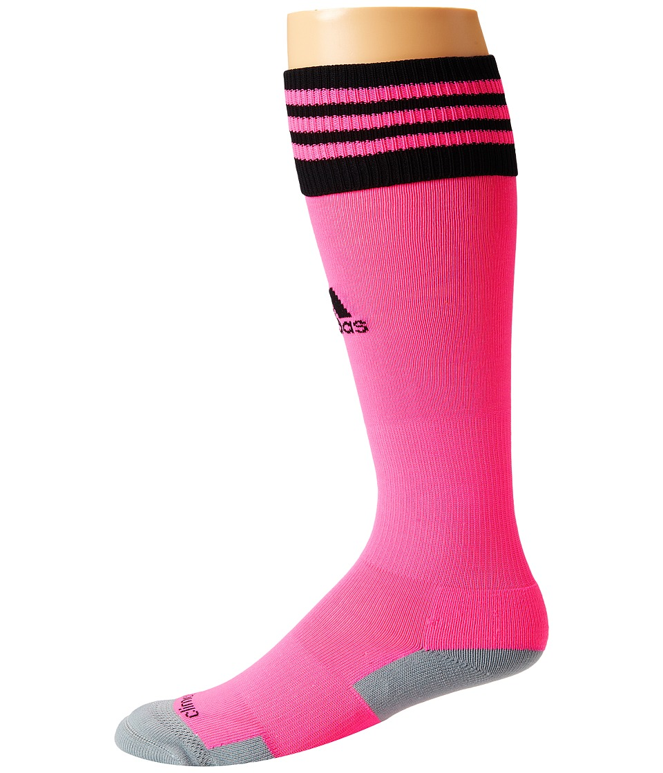 adidas - Copa Zone Cushion II Soccer Sock (Ultra Pop/Black) Knee High Socks Shoes