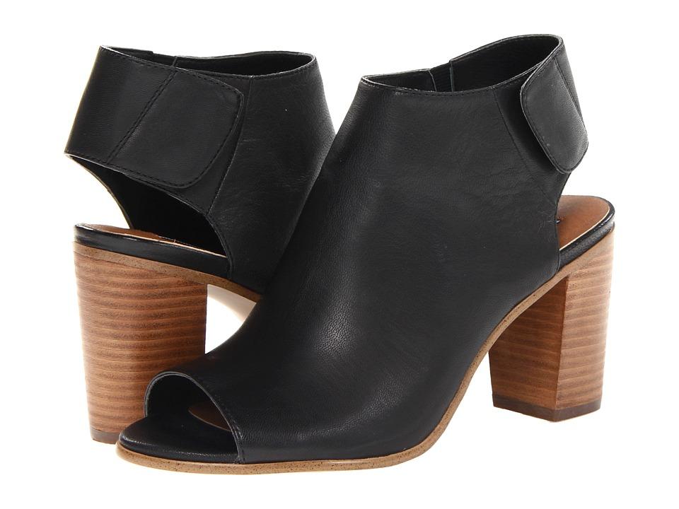 Steve Madden Nonstp Heel (Black Leather) Women's Dress Boots