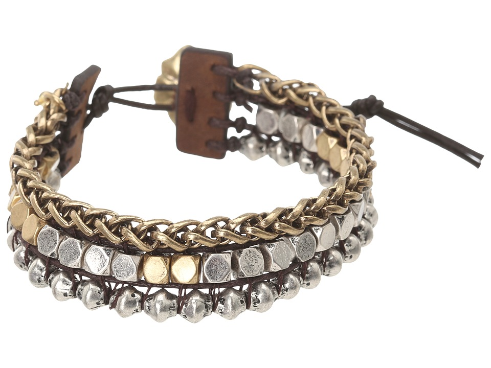 Lucky Brand Royal Jewels Mixed Two-Tone Faux Wrap Bracele...