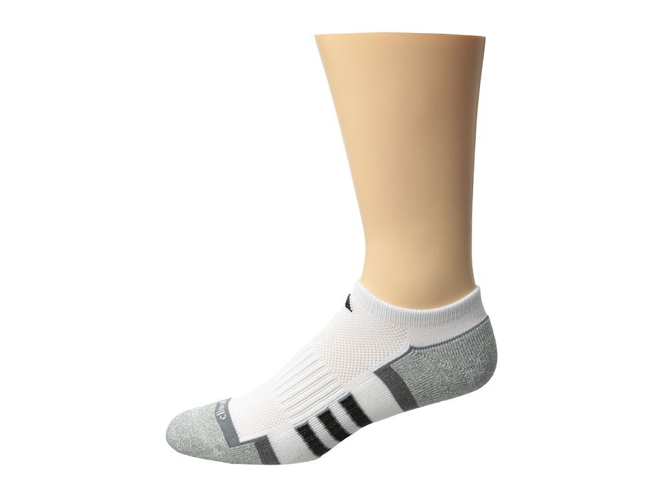 adidas Climalite II 2 Pack No Show Socks White/Medium Lead/Black/Aluminum 2 Marl Womens No Show Socks Shoes