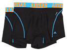 adidas - Sport Performance ClimaCool 2-Pack Trunk (Black/Solar Blue/Solar Zest) - Apparel