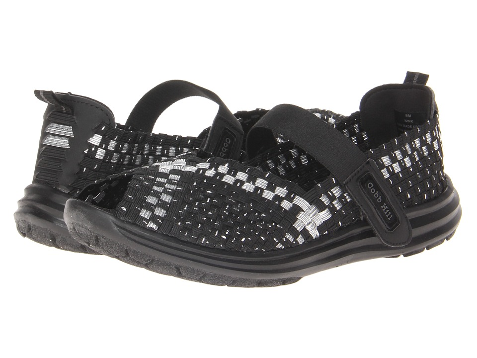 Cobb Hill Wink Black/Silver Womens Shoes