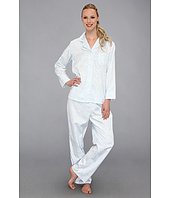 Carole Hochman - Brushed Back Satin L/S Notch Collar Pajama Set