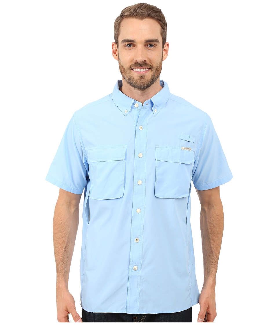 ExOfficio Air Strip S/S Top Light Lapis Mens Short Sleeve Button Up