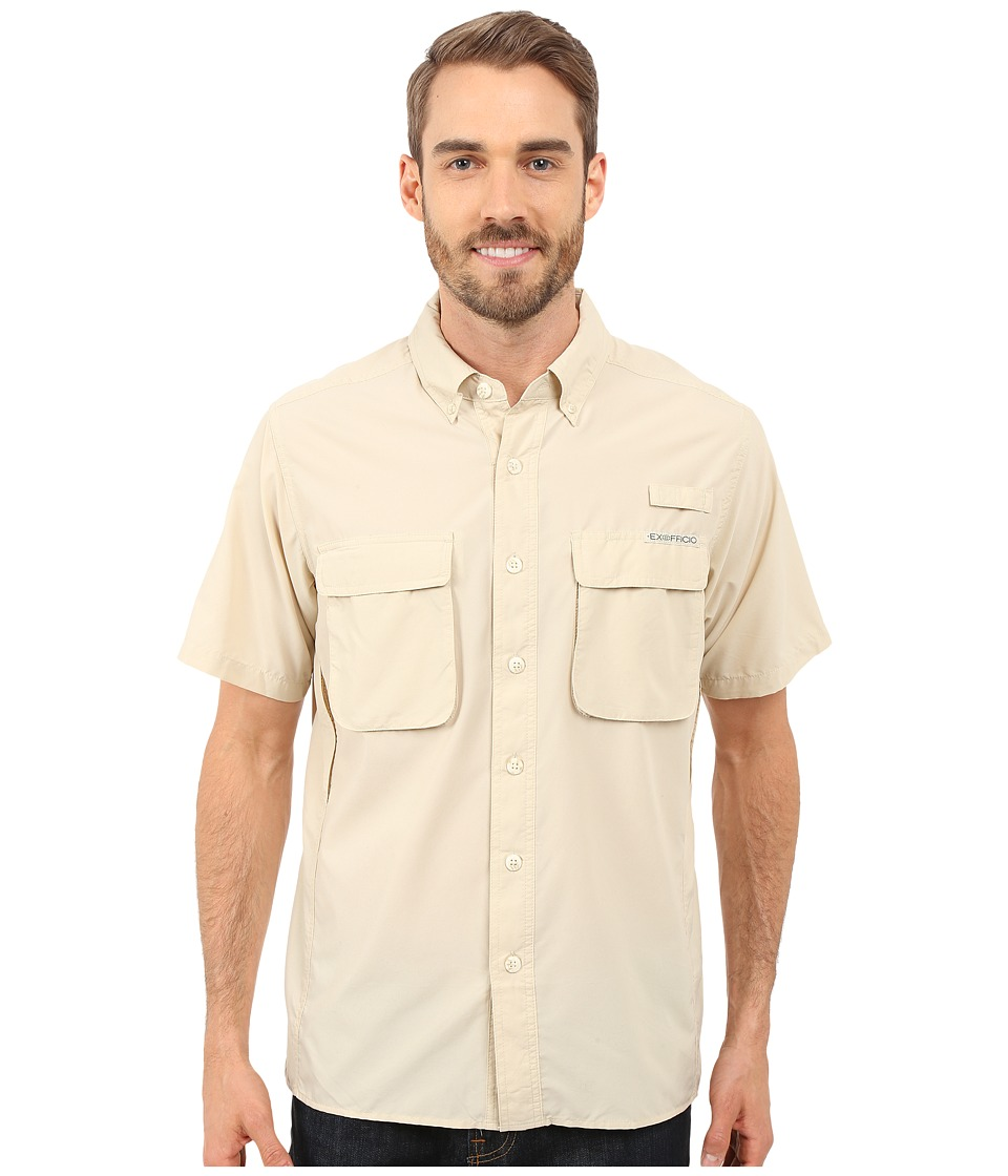 ExOfficio Air Strip S/S Top Bone Mens Short Sleeve Button Up