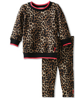 Juicy Couture Kids - Leopard Print French Terry Top And Bottom Set (Infant)
