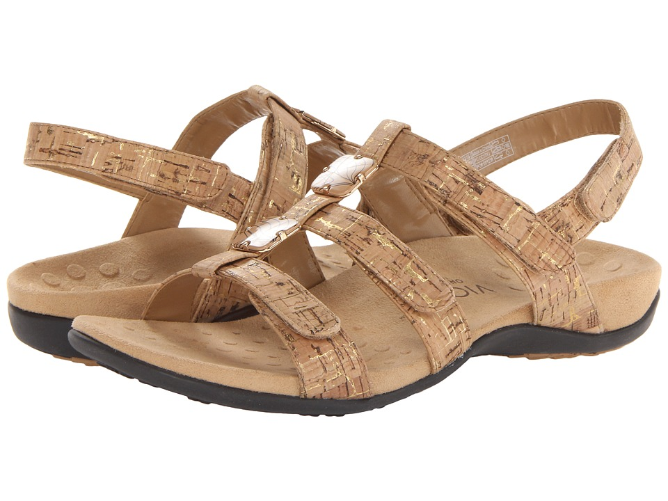 VIONIC Amber Gold Cork Womens Sandals