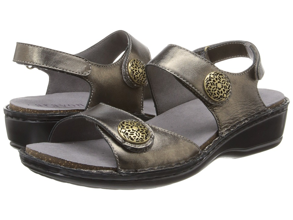 Aravon Candace Pewter Womens Sandals