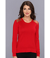 MICHAEL Michael Kors - Crew Neck Shoulder Stud Sweater