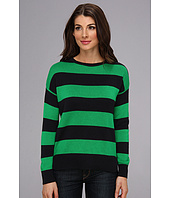 MICHAEL Michael Kors - Striped L/S High-Low Hem Sweater