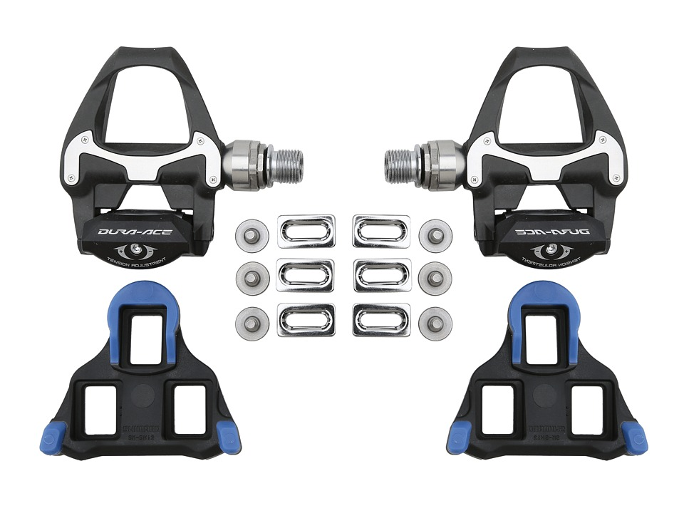 Shimano Dura Ace PD 9000 Carbon SPD SL Pedals Black Athletic Sports Equipment