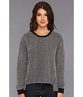 C&C California - Textured Loopy Tweed Zip Sweatshirt