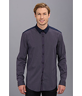 Elie Tahari  Steve Shirt Mini Check w/ Solid Yoke JN00W503  image