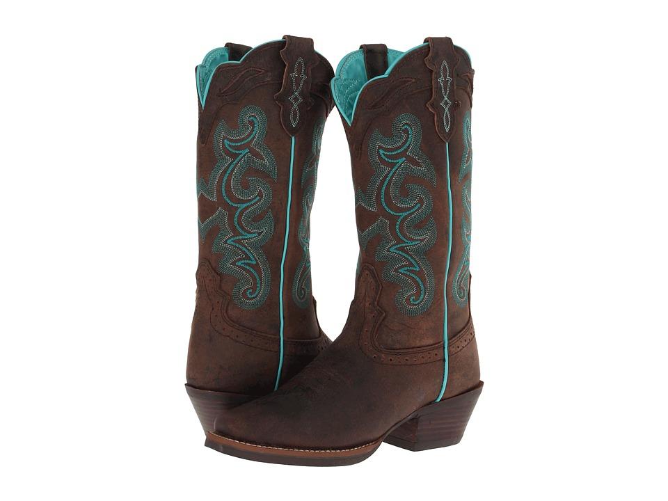 Justin - Sevana (Chocolate) Cowboy Boots