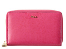 LAUREN Ralph Lauren - Tate Tech Zip Wallet (Aruba Pink/Purple)