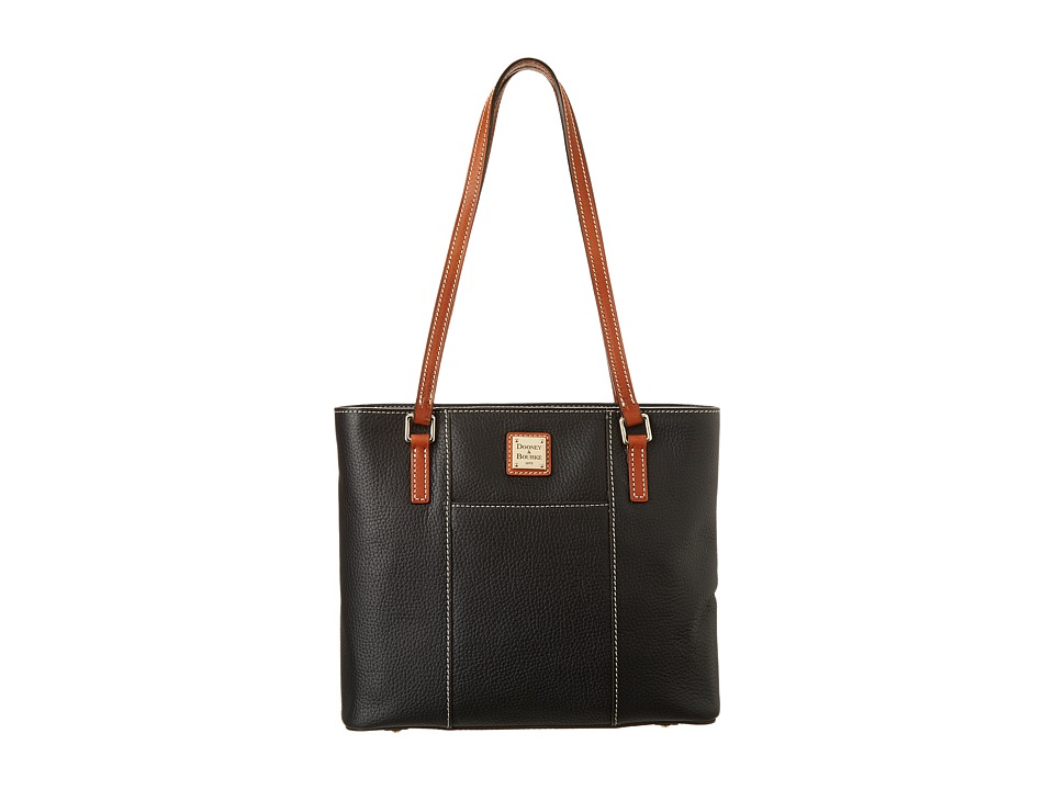 Dooney & Bourke - Small Lexington Shopper (Black w/ Tan Trim) Tote Handbags