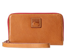 Dooney & Bourke Florentine Zip Around Credit Card Phone Wristlet