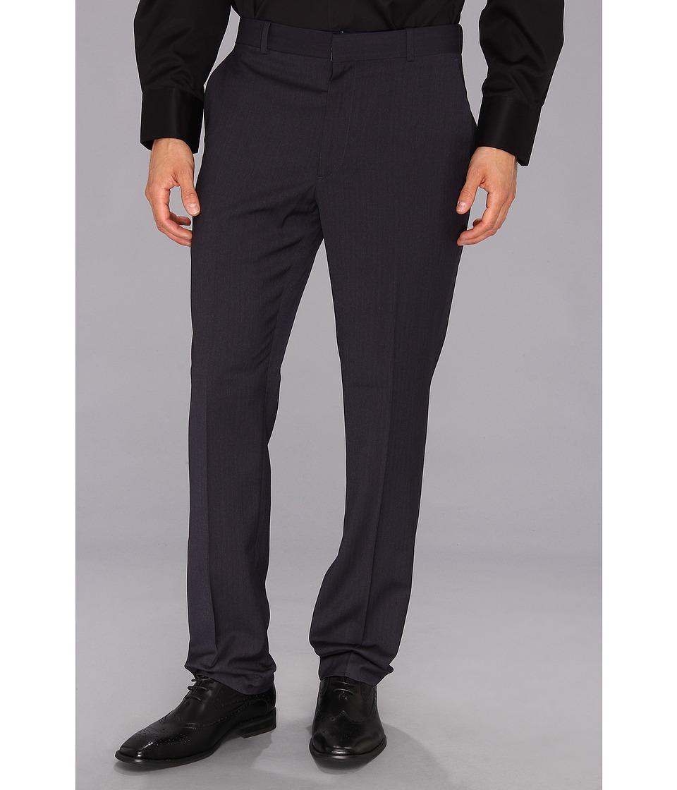 Perry Ellis Portfolio Slim Fit Solid Pant Slate Mens Dress Pants