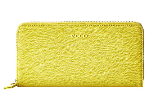 ECCO - Belaga Large Zip Wallet (Canary) - Bags and Luggage