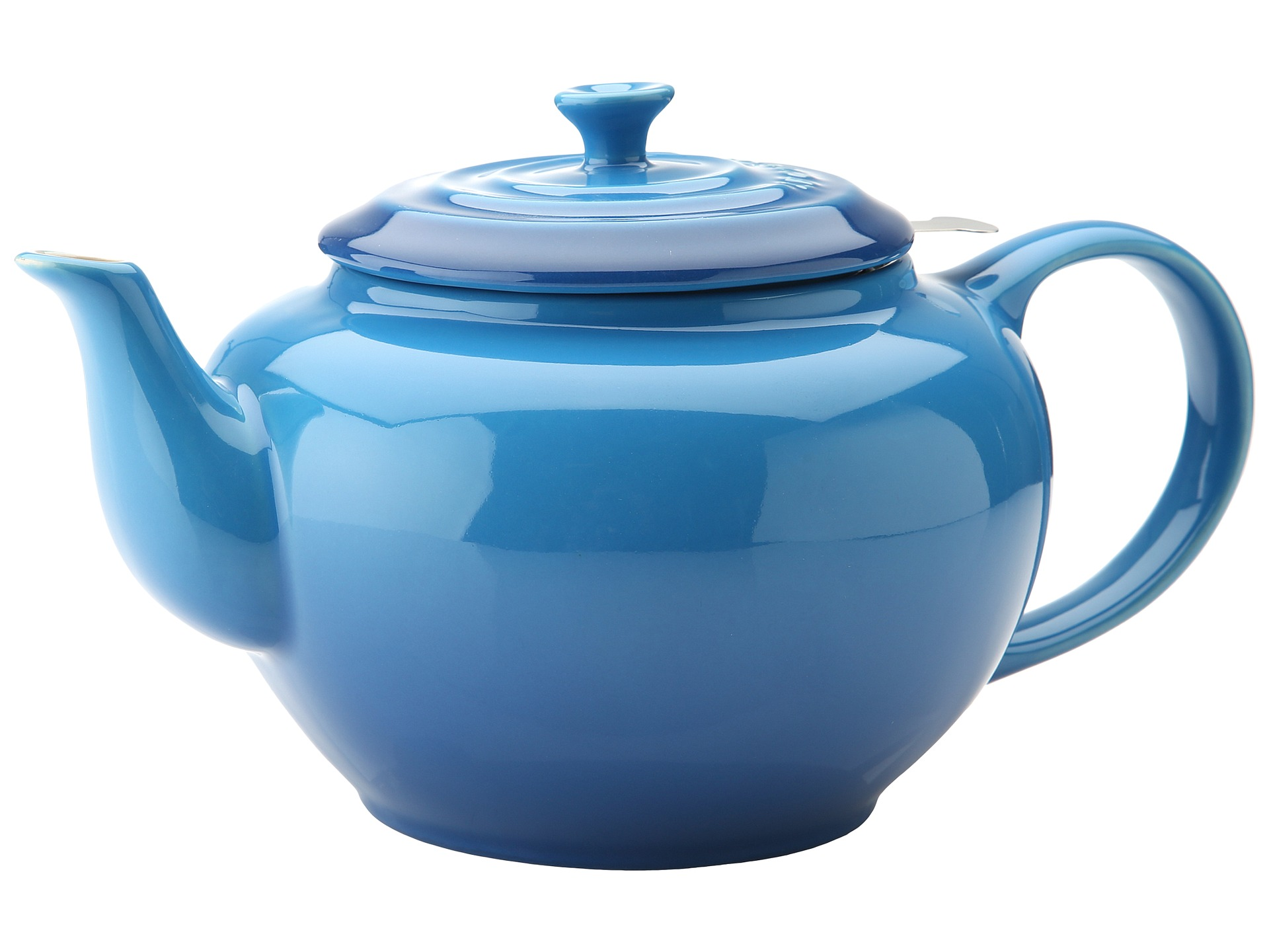 Le creuset large teapot with stainless steel infuser 1 qt shipped free at zappos - Tea pots with infuser ...