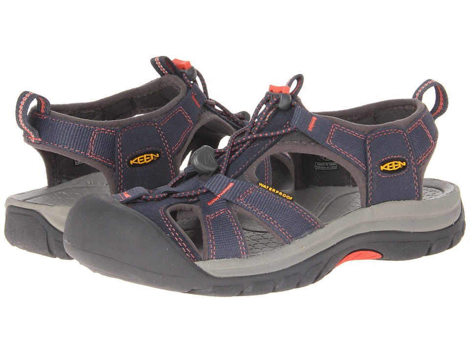 Keen - Venice H2 (Midnight Navy/Hot Coral) Womens Sandals