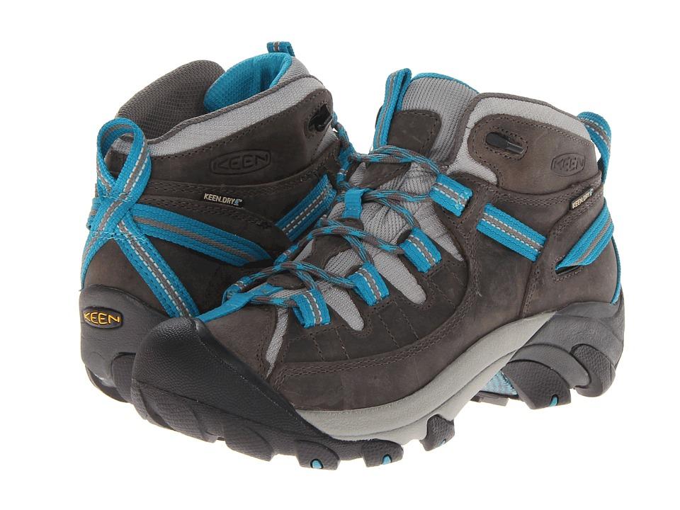 Keen - Targhee II Mid (Gargoyle/Caribbean Sea) Womens Hiking Boots