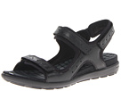 ECCO - Jab Strap Sandal (Black/Black Feather/Textile/Sole) -