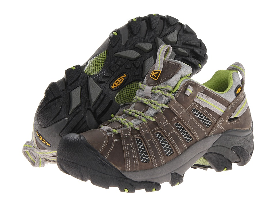 Keen - Voyageur (Neutral Gray/Lime Green) Womens Shoes