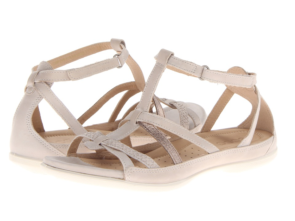 ECCO Flash Low Gladiator (Gravel/Moon Rock/Warm Grey Metallic/Firefly) Women's Sandals